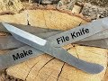 File Knife Making  - Make A Knife From A File