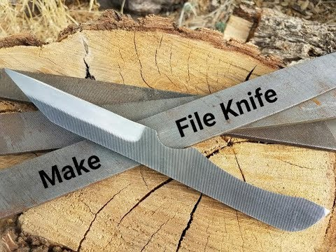 File Knife Making - Make A Knife From A File - YouTube