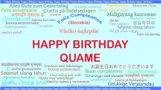 Quame   Languages Idiomas - Happy Birthday