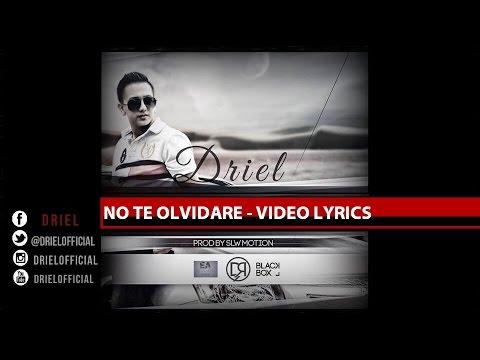 Driel - No te Olvidare [Video Lyrics]