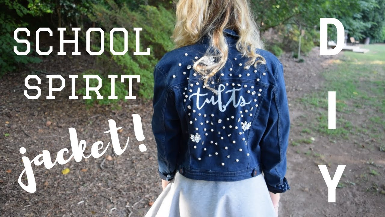 Diy School Spirit Denim Jacket Embroidery Embellishment Fabric