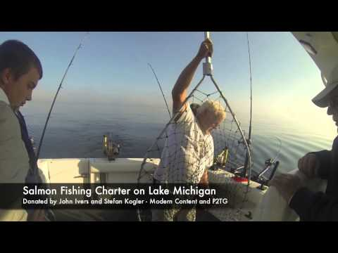 Eton Academy Live Auction Lake Michigan Salmon Fishing Charter 2015