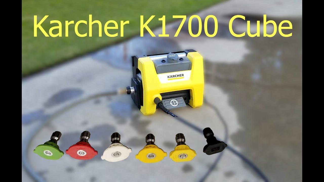 Karcher 1700 Cube Pressure Washer Nozzle Comparison