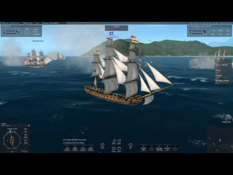 Naval Action: French Fleet Defending Fort Royal (Huge Battle)