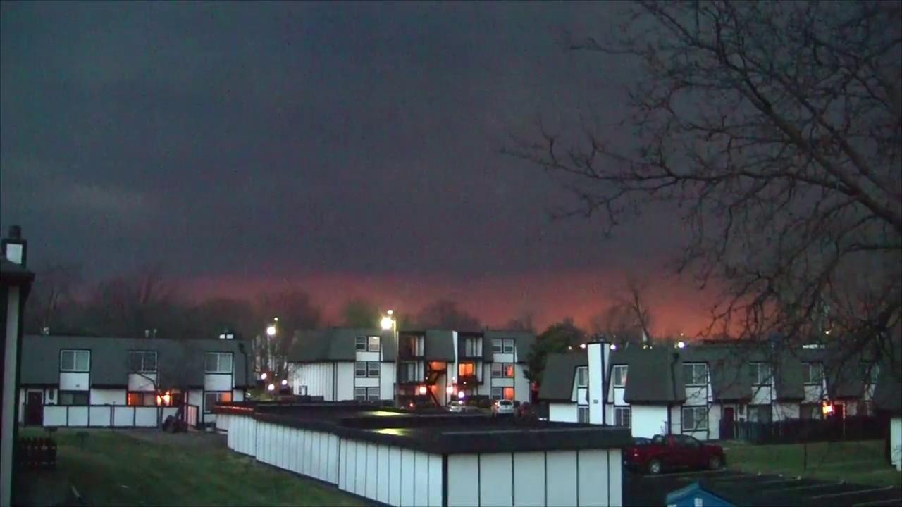 Tornado Warning!! Topeka, Kansas... March 6, 2017 - YouTube