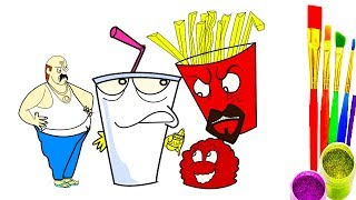 Animation coloring pages for kids   Aqua Teen Hunger Force coloring pages