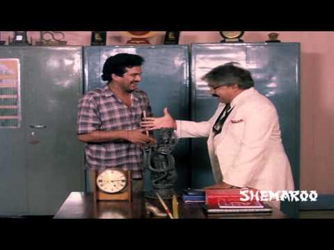 Rajendra Prasad funny interview - Bhale Dampathulu Comedy Scenes - ANR, Jayasudha, Vani Viswanath