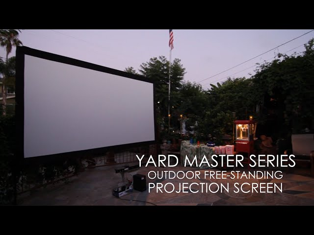 Elite Screens Yard Master Series Outdoor Free-Standing Projection Screen