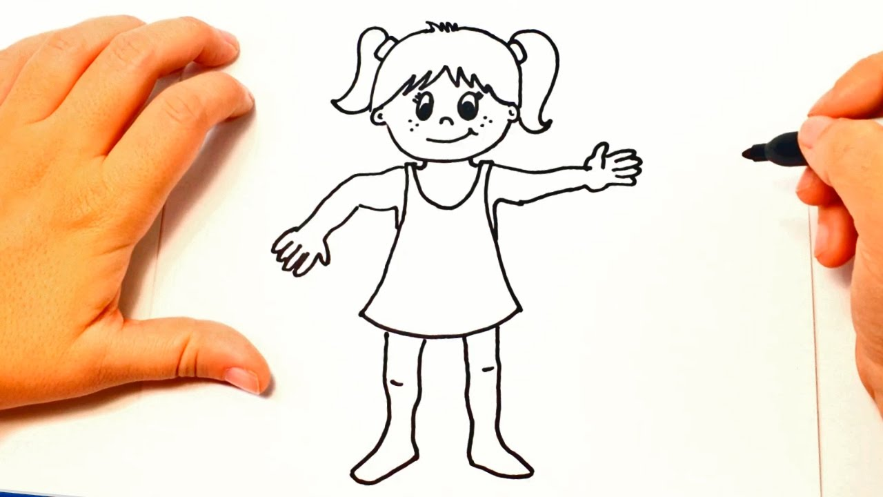 How to draw a girl for kids girl easy draw tutorial