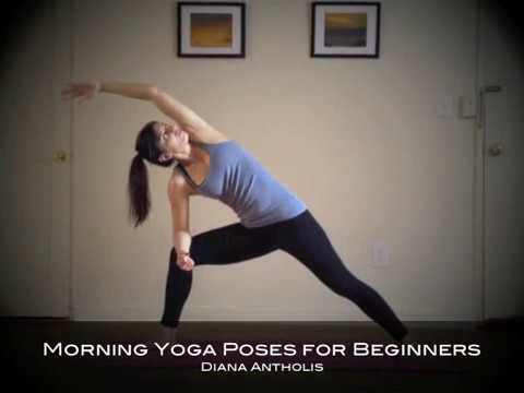 morning yoga poses for beginners at home  youtube