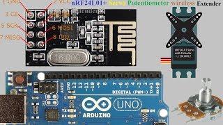 Arduino nRF24L01+ Servo Potentiometer потенциометр wireless Extender multi Лайфхак Своими руками
