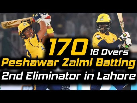 Peshawar Zalmi Best Batting in PSL | Eliminator 2 | Peshawar Zalmi Vs Karachi Kings | HBL PSL 2018