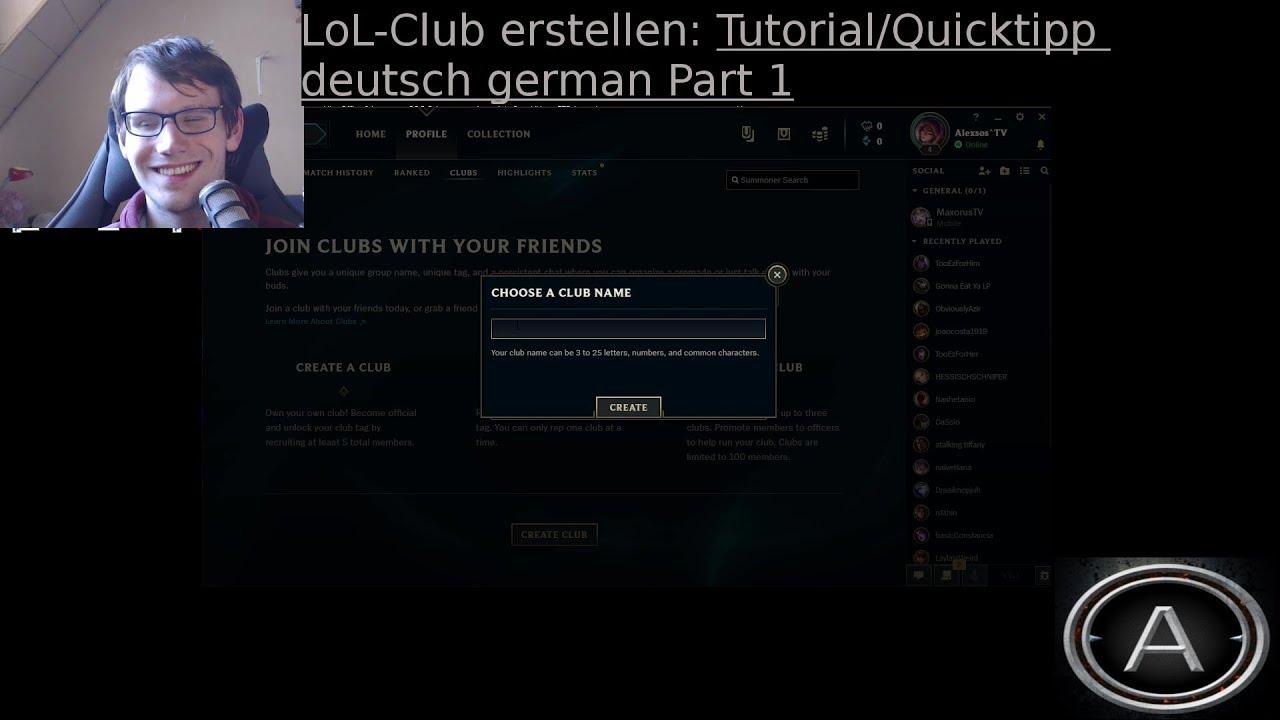 Lol Club Tag Erstellen
