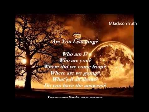 Michael Jackson Poem Are you listening