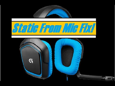 logitech G430 headset Static From Mic FIX!