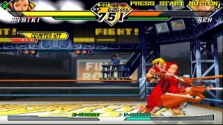 Capcom vs. SNK 2: Mark of the Millennium 2001 - Nakoruru/Athena/Hibiki - Arcade Mode Playthrough
