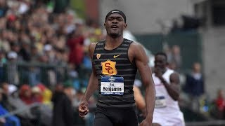 Rai Benjamin reflects on 400-meter hurdles NCAA title for USC: 'I gave it everything I had'