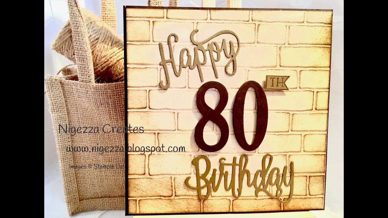 Masculine 80th Birthday Card Using Stampin Up Products