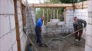 Construire casă part 2-zidărie,fierărie,cofrare si turnare beton(stâlpi si centură)