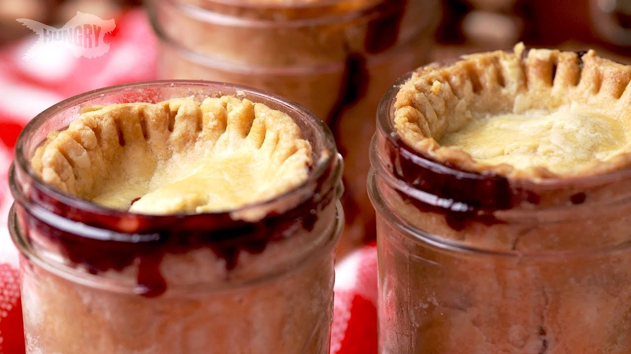 Watch Chef Richards Cherry-Filled Baked Peach With Pie Topping video