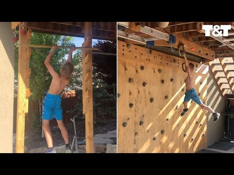 Kid Completes Epic Homemade Ninja Warrior Course
