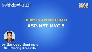 ASP.NET   MVC 5   Built in Action Filters