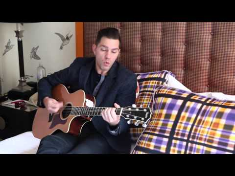 """Andy Grammer performs """"Keep Your Head Up"""" in bed 