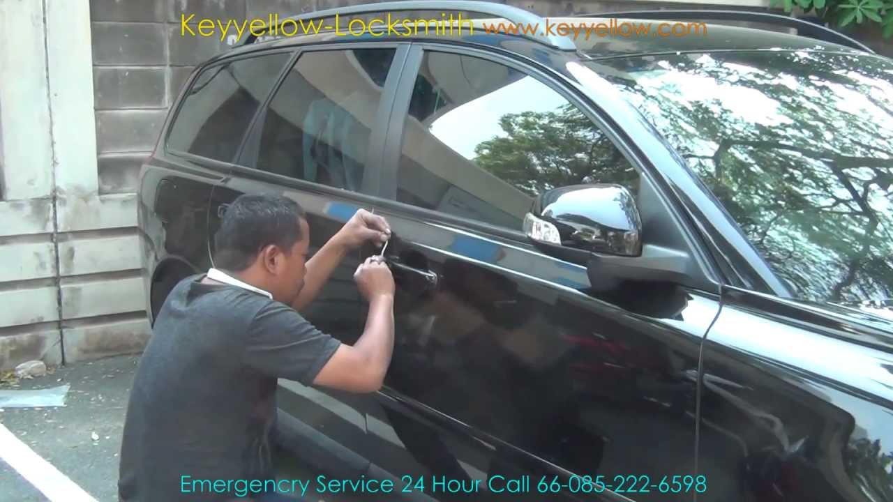 Locksmith Unlock car door Volvo V50 T5 / Keyyellow - YouTube