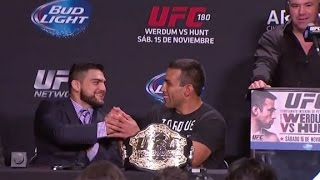 UFC 180: Post-fight Press Conference Highlights