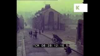 1959 Liverpool Children Play Football in the Street, Post War North of England 1950s, 35mm