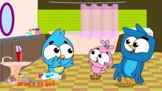 Birds family stuck a thief stole the girl angry bird with animation kids cartoon