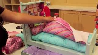 American Girl Bouquet Bed Set Review!!