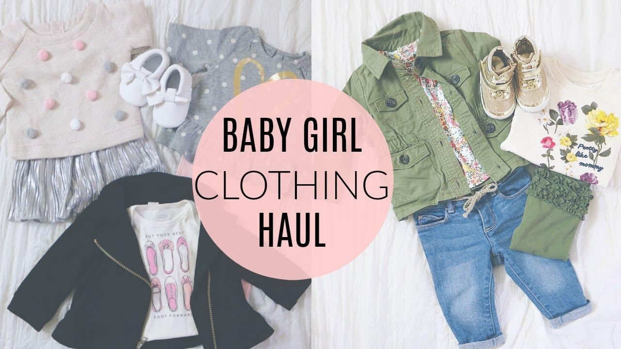 Huge Baby Girl Clothing Haul Old Navy Carters Baby Gap Youtube