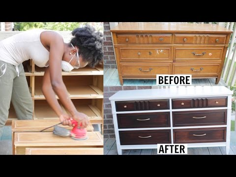 DIY | FURNITURE MAKEOVER: Dresser Transformation!!!!
