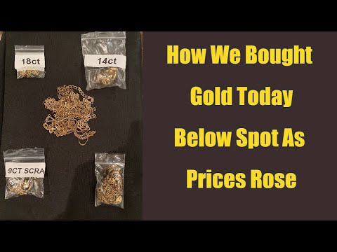 How We Bought Gold Today Below Spot As Prices Rise