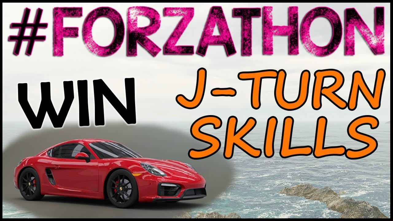 Horizon Cares FORZATHON - Porsche Cayman GTS, J-Turn Skills ...