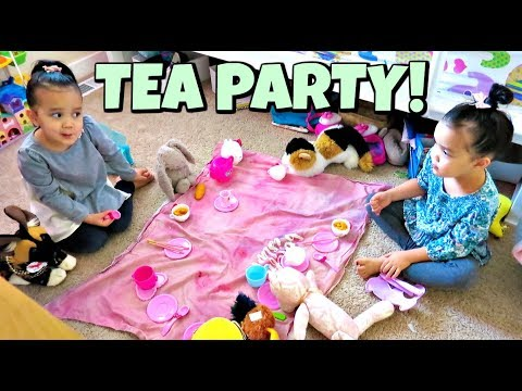 A Chic Tea Party with 3 Year Old Twins - January 21, 2018 -  ItsJudysLife Vlogs thumbnail