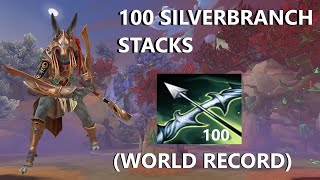 I FINALLY BROKE THE 100 SILVERBRANCH STACK WORLD RECORD! - Grandmasters Ranked 1v1 Duel - SMITE