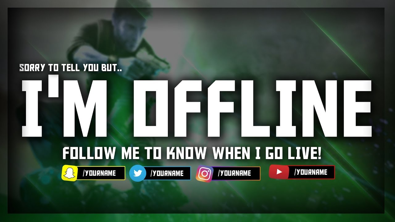 Twitch OFFLINE Screen FREE Template! (Download Link) - YouTube