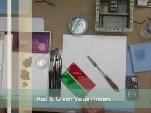 Value Scales: Painting With Acrylics - Value Finder - Great Art Tools!
