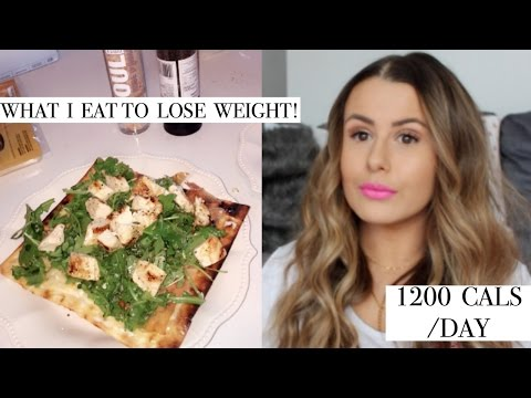WHAT I EAT IN A DAY TO LOSE WEIGHT | 1200 CALORIES/DAY | GRILLED CHICKEN FLATBREAD