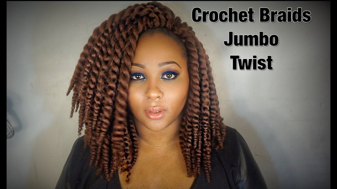 Crochet Hair Jumbo Twist : ... Synthetic Hair Crochet Braids 12 2X Jumbo Senegalese Twist - YouTube