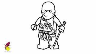 Kai ninjago - Kai DX - How to draw Ninjago