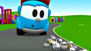 Leo Junior bir sokak temizleme aracı yapıyor - Eğitici çizgi film - Türkçe dublaj