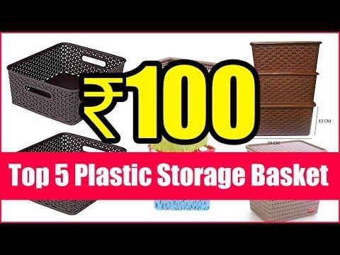 Top 5 Plastic Storage Basket Box Organizer Bins With Handle For Jars