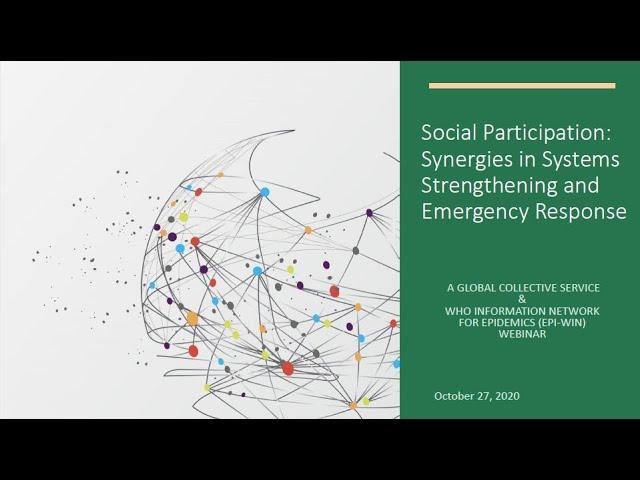 Rede de informações da Organização Mundial da Saúde para epidemias