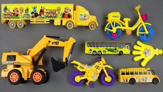 Fine Toys Construction Vehicles Looking for cars in the Table | Learn Colour & Number Toys for kids