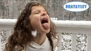 Catching Giant Snowflakes! (WK 212.2) | Bratayley
