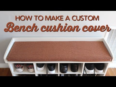How To Make A Custom Bench Cushion Cover | A Thousand Words