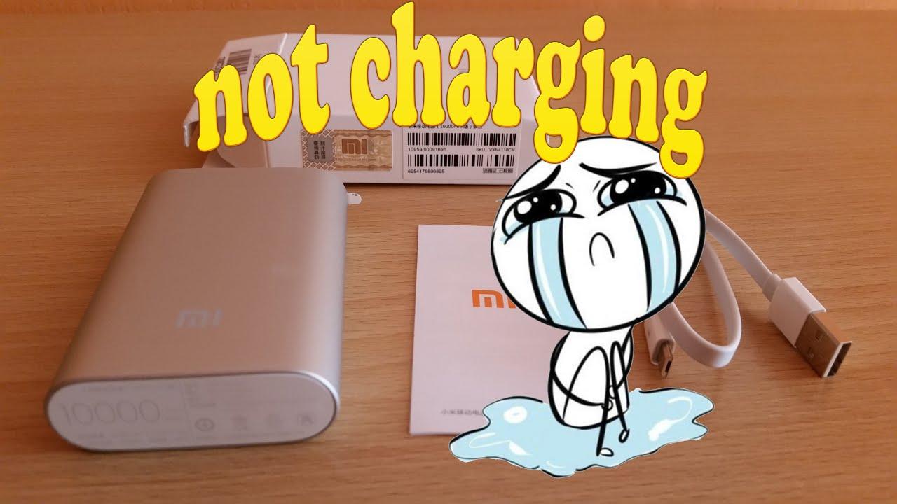 power bank not charging ((